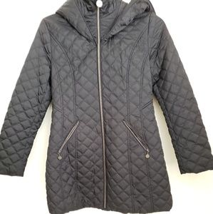 Laundry by Shelli Segal Black Puffy Jacket Size M